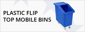 Plastic Flip Top Mobile Bins