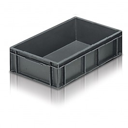 Solid Euro Stacking Container 600 x 400 x 150mm
