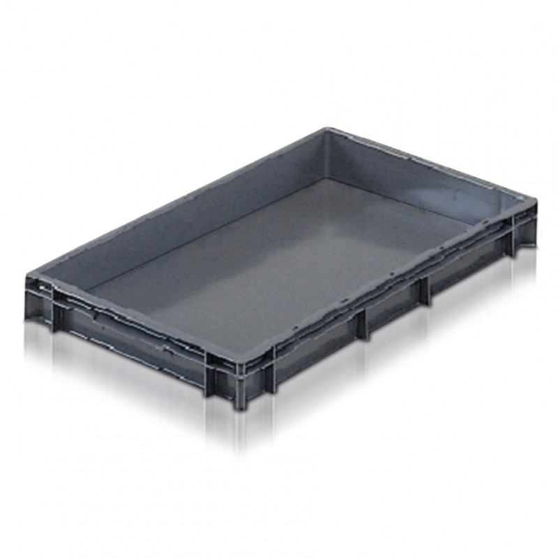 Solid Euro Stacking Container 600x400x73mm - 21013
