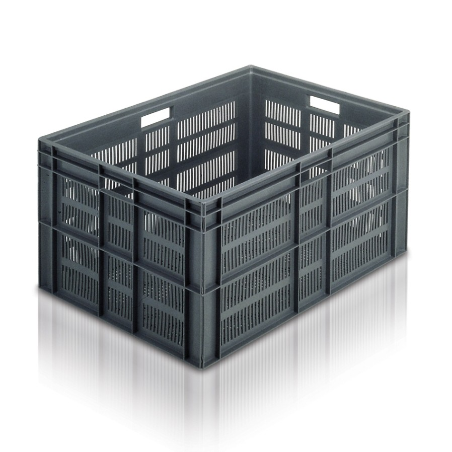 Euro Stacking Container 800x600x412mm Ventilated