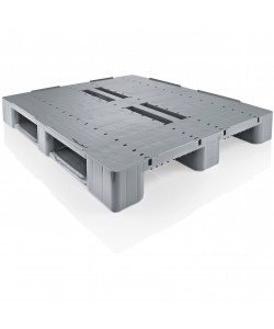 Semi perforated plastic pallet