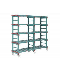 Mobile plastic racking units