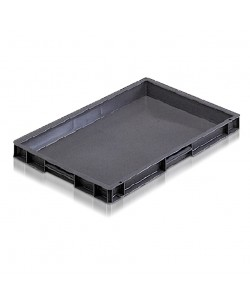 *** NOW: £4.90 Exc VAT *** 21008 Solid Euro Stacking Container (600 x 400 x 50 mm)