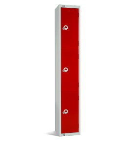 Three Door Steel Locker - LKS3