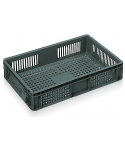Ventilated Euro Stacking Container 600x400x118mm - 2A022