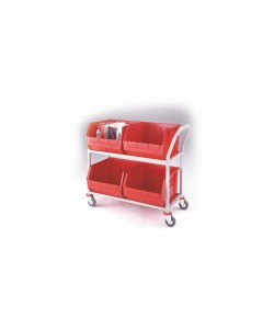 Twin 2 Shelf Picking Trolley