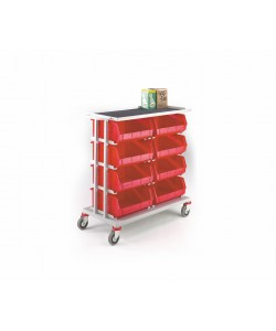 Twin 4 Shelf Picking Trolley