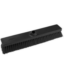Black Sweeping Broom 457mm Soft Bristled - B896
