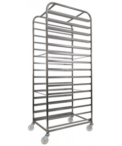 Stainless steel 15 shelf confectionary tray rack