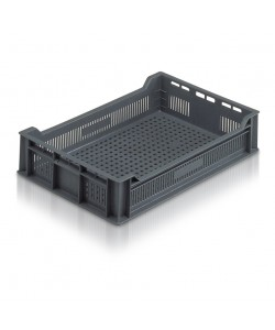 *** NOW: £6.50 Exc VAT *** Ventilated Stacking Container 600x400x120mm - 20016