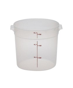 Polypropylene Round Food Container 5.7 Litre - RFS6PP