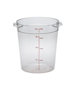 Polycarbonate Round Food Container 7.6 Litre - RFSCW8