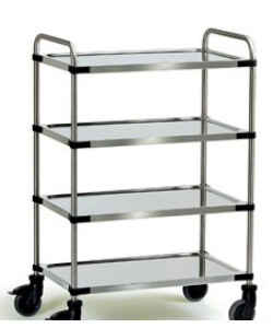 Stainless 4 Shelf Trolley SSTY4