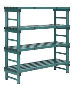 Hygienic Plastic racking 4 shelf