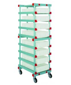 Single mobile tray rack