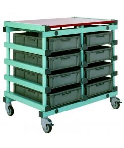 Double mobile tray rack