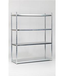 Stainless Steel Shelving - Solid Shelves