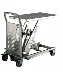 Table élévatrice hydraulique en acier inoxydable 500 kg