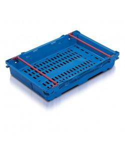 Caisses à barre de gerbage de 600 x 400 x 106mm