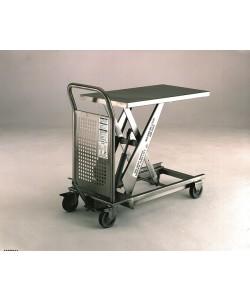 Table élévatrice hydraulique en acier inoxydable 200 kg