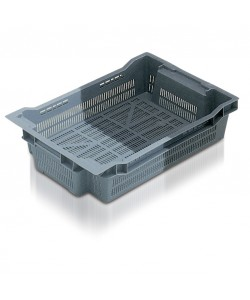 Perforated stack and nest container