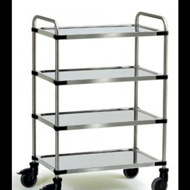 Stainless Steel 4 Shelf Trolley SSTY4
