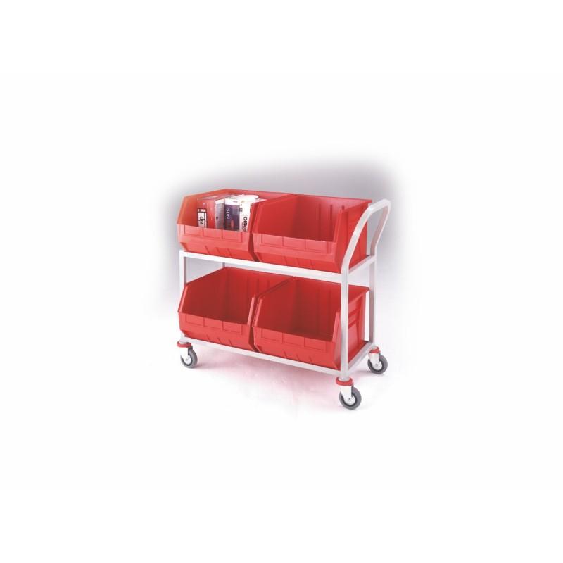 Twin 2 Shelf Picking Trolley