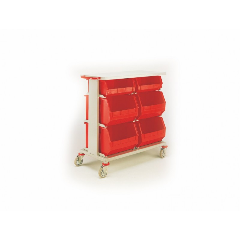 Twin 3 Shelf Picking Trolley