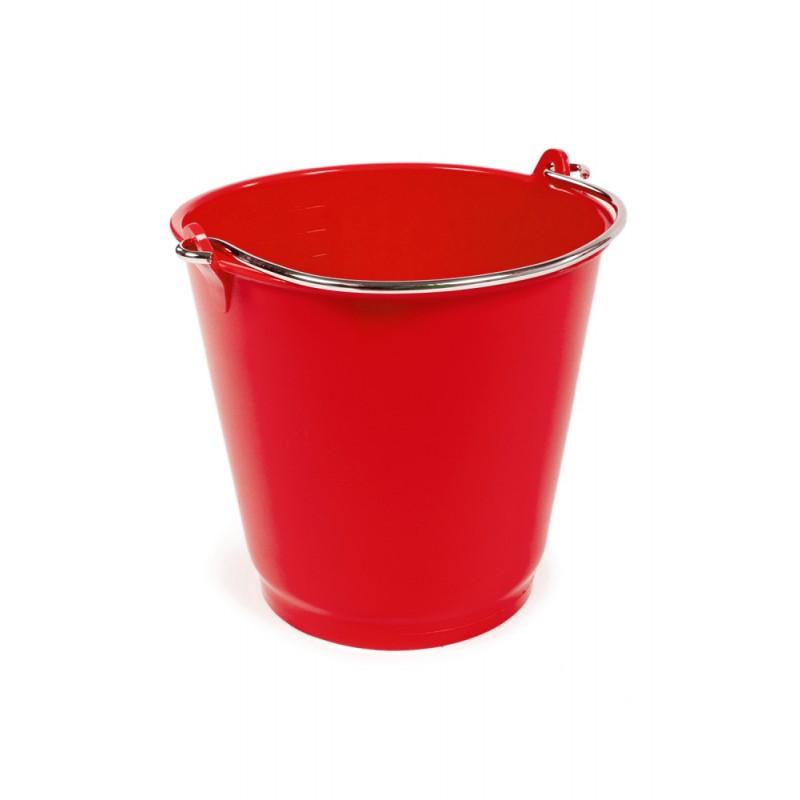 RM2B Red 9 Litre Plastic Bucket