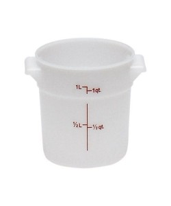 Polyethylene Round Food Container 0.9 Litre - RFS1