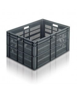 Euro Stacking Container 800x600x412mm (ventilated) - 21163