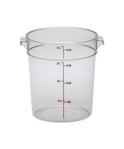Polycarbonate Round Food Container 3.8 Litre - RFSCW4