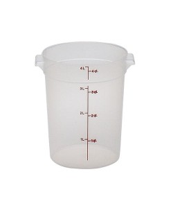 Polypropylene Round Food Container 3.8 Litre - RFS4PP