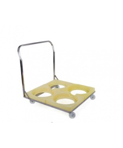 Inter-Stacking Bin Quad Dolly - Plastic Insert - rotoXFQD