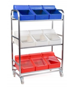 Trolley with 9 Ingredient Bins – rotoXF8