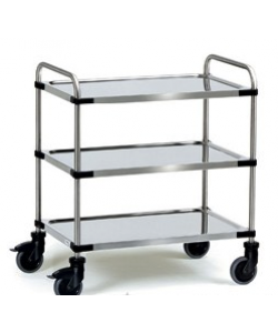 Stainless Steel 3 Shelf Trolley SSTY3