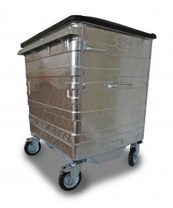 Steel Wheelie Bin - 1100 Litres - GALV1100