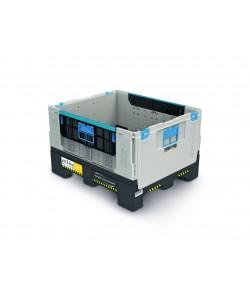 Collapsible Plastic Pallet Box- 606 Litres - FLC750