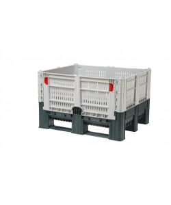 Folding Plastic Pallet Box (perforated) – FDPB1210P