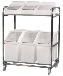 Stainless Steel Trolley with 6 Ingredient Bins – rotoXF10