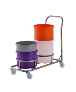 Inter-Stacking Bin Double Dolly - rotoXD07