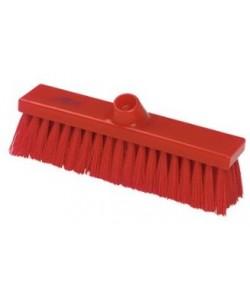 Red Sweeping Broom 280mm Medium Bristled - B1732