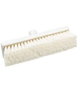 White Sweeping Broom 305mm Medium Bristled - B758