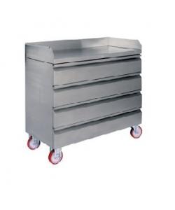 Armoire à tiroirs mobile en acier inoxydable