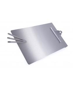 Porte-bloc A 4 en acier inoxydable