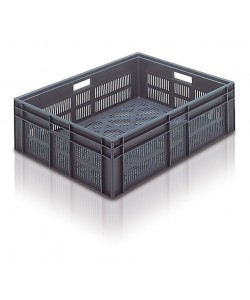 Ventilated Euro Stacking Container 800x600x235mm - 21091