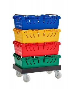 Kunststoff-Fahrgestell rotoXD90 (für stapel-/schachtelbare Behälter)