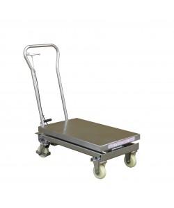 Edelstahl-Hydraulikhubtisch 500 kg