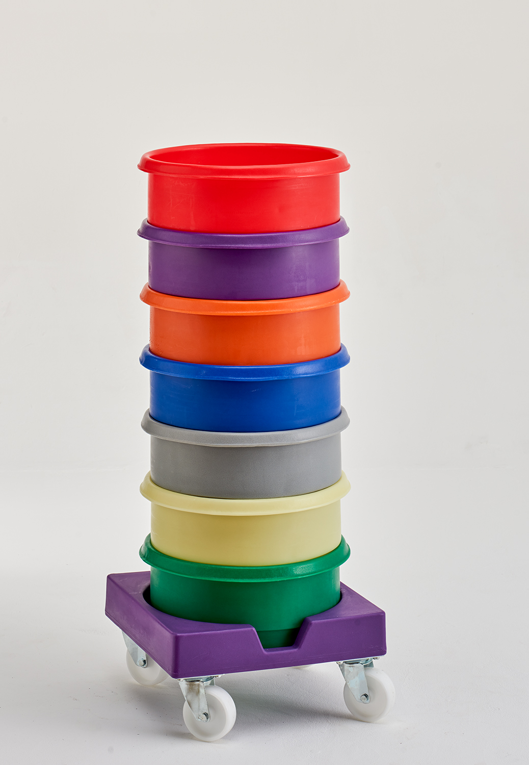 rotoXT Plastic Stacking Bins with rotoXDSB Dolly